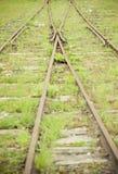 Fusione delle righe ferroviarie Fotografia Stock