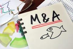 Fusione ed acquisizioni di M&A Fotografie Stock