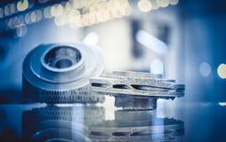 Fusione selettiva del laser Oggetto stampato sui clos della stampante del metallo 3d fotografia stock libera da diritti
