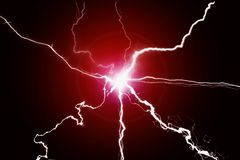 Fusione sfrigolante di energia di Electricy di potere verde del plasma fotografie stock