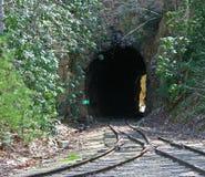 Fusionnement des voies et du tunnel Photo stock