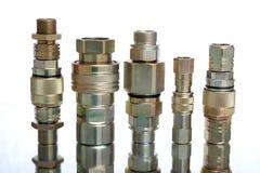 Fusions - une partie de construction hydraulique Images stock