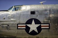 Fusoliera americana d'annata del bombardiere degli anni 60 e degli anni 50 Fotografia Stock
