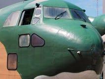 fusoliera della parte anteriore degli aerei di schema di Tri colore fotografia stock