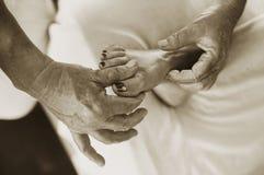 Fuss-Acupressure + Massage Lizenzfreies Stockfoto