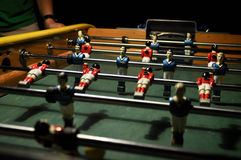 Fuss ball game. In the action Royalty Free Stock Photos