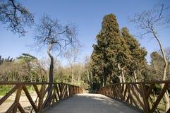 Fuss-Brücke Stockfoto