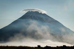 Fuss Peak Volcano at  Paramushir Island in  Russia. Fuss Peak Volcano at Paramushir Island, Kuril Islands, Russia Stock Image