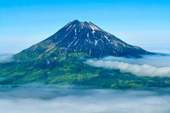 Fuss Peak Volcano, Paramushir Island, Russia Royalty Free Stock Photography