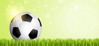 Fussball auf Spielfeld 2018 - fotboll på Matchfield 2018 Royaltyfria Bilder