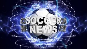 FUSSBALL-NACHRICHTEN-BALL Computer-Animations-Hintergrund Lizenzfreies Stockbild
