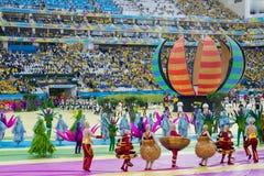 FUSSBALL-WELTMEISTERSCHAFT BRASILIEN 2014 Stockfotografie