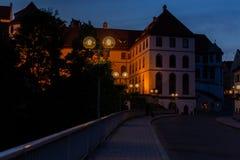 Fussen, Allemagne, le 26 mai 2018 Rue de nuit en Bavière de Fussen Allemagne image libre de droits