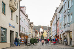 FUSSEN - DECEMBER 5, 2015. Cityscape of Fussen in afternoon Royalty Free Stock Image
