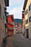 Fussen, Deutschland Alte Straße Lizenzfreies Stockbild