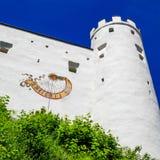 FUSSEN, Deutschland die wunderbare historische Stadt Fuessen im Bayern, Ansicht des alten Schlosses stockfotos