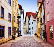 Fussen, Germany. Fussen colorful street, Bavaria, Germany Royalty Free Stock Image