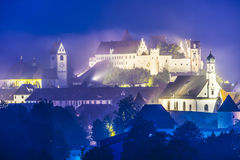Fussen Germany. Misty night in Fussen, Germany Royalty Free Stock Images