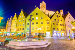 Fussen, Germany Town Square Stock Image