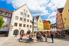Fussen old town, Germany stock images