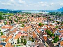 Fussen-Stadtvogelperspektive Lizenzfreies Stockbild