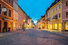 Fussen town at night in Bavaria, Germany Royalty Free Stock Image