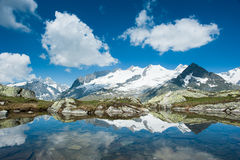 Fusshorn (3627m) and Geisshorn(3640m) Stock Images