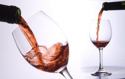 Fussion de flot de vin Images libres de droits
