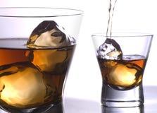 fussionexponeringsglaswhiskey fotografering för bildbyråer