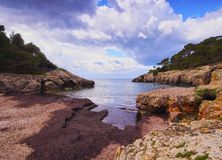 Fustam Bay on Minorca Stock Images