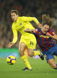 Fuster fight with Puyol Stock Images