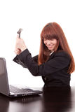 Fustrated businesswoman Stock Photography