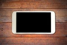 Futé blanc sur le bureau en bois Photos libres de droits