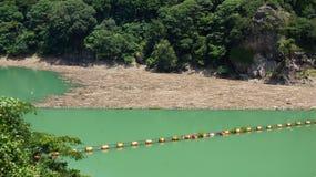 Futagawa fördämning i den Arita floden i Wakayama, Japan Royaltyfria Foton