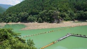 Futagawa fördämning i den Arita floden i Wakayama, Japan arkivfoto