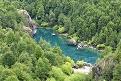 Futaleufu flod Chile Royaltyfri Fotografi