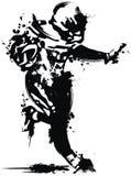 Futball d'encre Photographie stock libre de droits