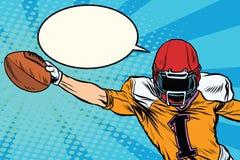 Futbol amerykański atlety piłki cel ilustracja wektor