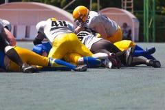 Futbol amerykański drużynowa sztuka Zdjęcia Royalty Free