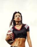 Futbol amerykański piękna dziewczyna zdjęcia stock