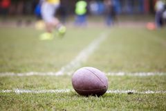 Futbol amerykański - piłka zdjęcie stock
