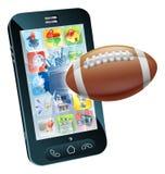Futbol amerykański piłki telefon komórkowy Obraz Royalty Free