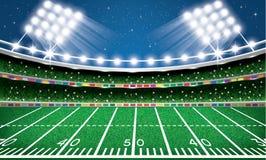 futbol amerykański stadium arena ilustracji