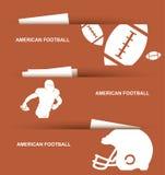 Futbol amerykański sztandary Obrazy Royalty Free