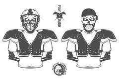 Futbol amerykański sztuki mocno druki dla koszula, emblematów, loga, tatuażu i etykietek, Fotografia Royalty Free