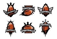 Futbol amerykański ustawiający logowie Zdjęcia Stock