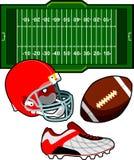 Futbol Amerykański wyposażenie ilustracja wektor