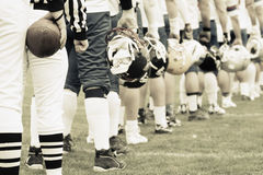 futbol amerykański zespół Zdjęcie Royalty Free