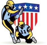 futbol amerykański grafika Obrazy Royalty Free