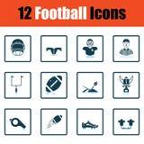 Futbol amerykański ikona Fotografia Royalty Free